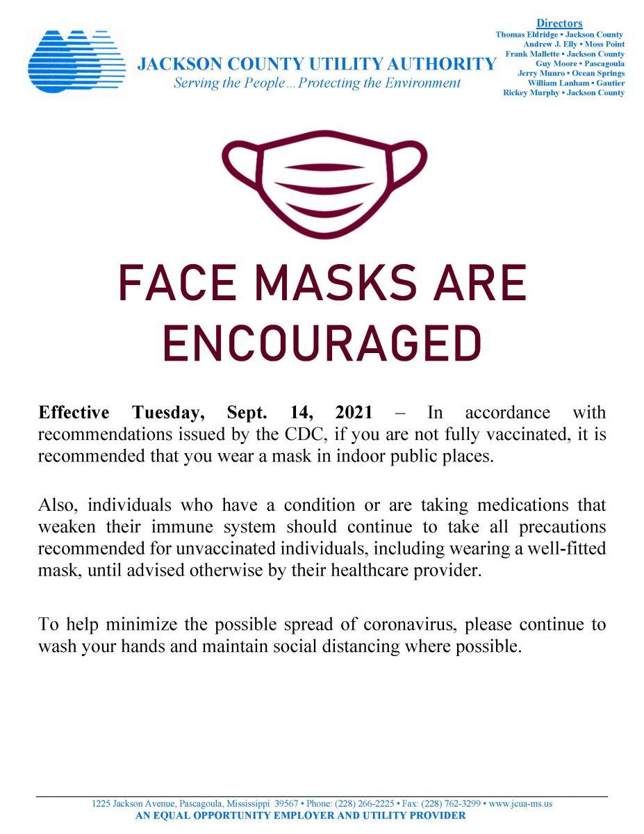 09/14/21 JCUA COVID-19 Face Coverings